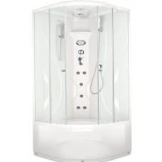 Душевая кабина Domani-Spa Elegance high размер 90x90x218 см высокий поддон прозрачные стекла с электрикой
