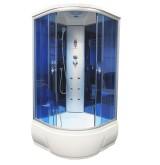 Душевая кабина Aquacubic 3302B blue mirror 90x90x220 см синие стекла