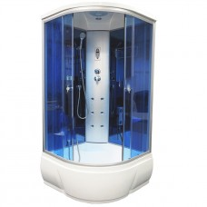 Душевая кабина Aquacubic 3302B blue mirror 90x90x220 см синие стекла