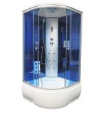 Душевая кабина Aquacubic 3302A blue mirror 90x90x220 см