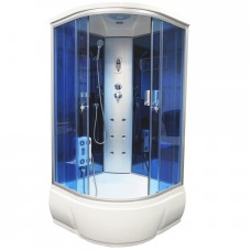 Душевая кабина Aquacubic 3302A blue mirror 90x90x220 см