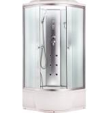 Душевая кабина Aquacubic 3204B fabric white 110x110x220 см матовые стекла