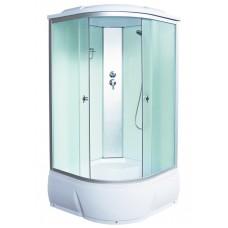 Душевая кабина Aquacubic 3302D fabric white 90x90x220 см матовые стекла