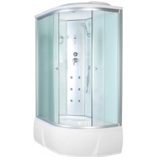 Душевая кабина Aquacubic 3306A L fabric white 120x80x220 см матовые стекла