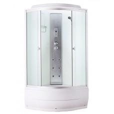 Душевая кабина Aquapulse 4202B fabric white 90x90x220 см матовые стекла
