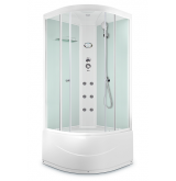 Душевая кабина Domani-Spa Light 110 high White  Размер: 100*100*218 (см)