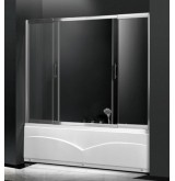 Шторка на ванну AL-161 Прозрачная Размер:1400*1600*1500 мм