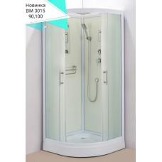 Душевая кабина Водный мир ВМ-3015 Размер:100x100 матовая