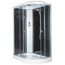 Душевая кабина Aquacubic 3126D L grey black 120x80x220 см тонированные стекла