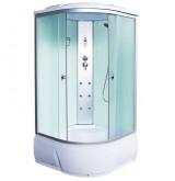 Душевая кабина  Aquacubic 3102B fabric white 90x90x220 см матовые стекла
