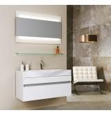 Aqwella Комплект мебели Bergamo 100 белый