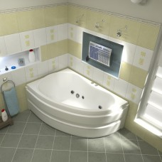 BAS Акриловая ванна ALEGRA (Алегра) левая 1500 х 900